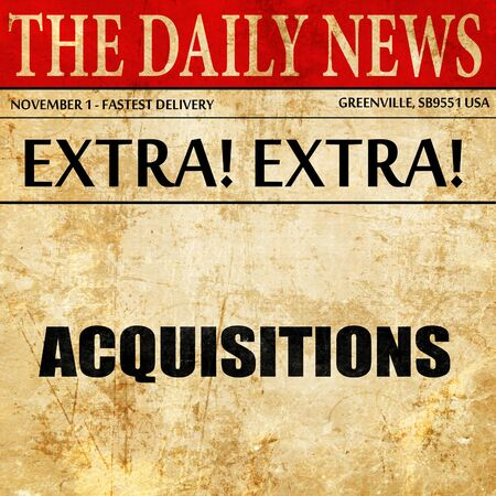 company merger: acquisitions, article text in newspaper