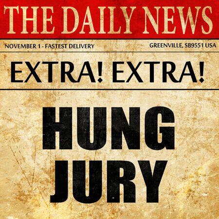 jurado: hung jury, article text in newspaper