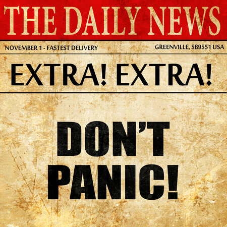 assailant: dont panic, article text in newspaper