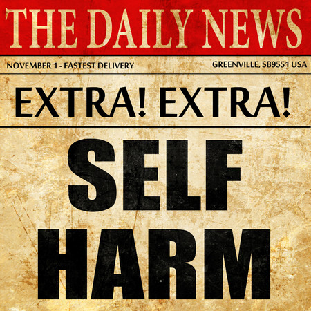 harm: self harm, article text in newspaper