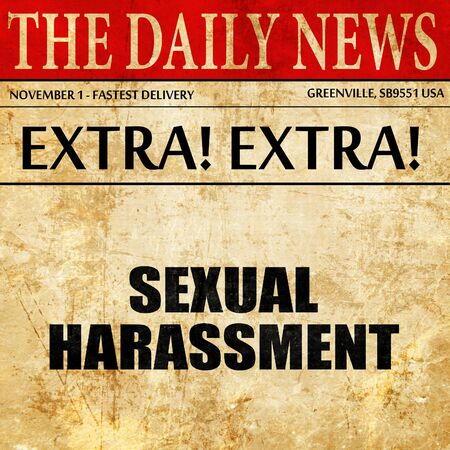 acoso laboral: sexual harassment, article text in newspaper