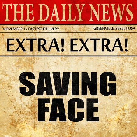 disgrace: saving face, article text in newspaper