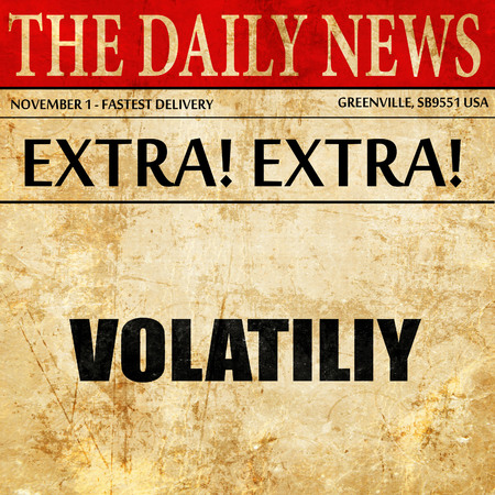 volatility: volatility, article text in newspaper