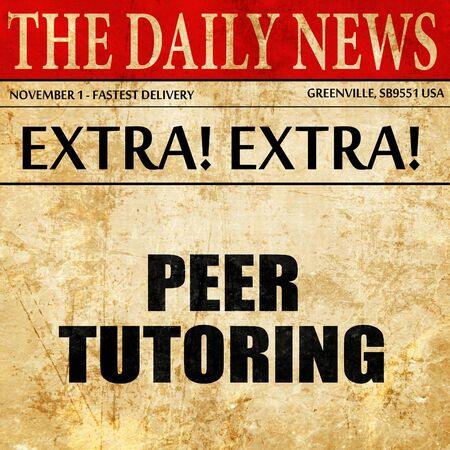 peer to peer: peer tutoring, article text in newspaper