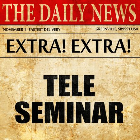 teleseminar, article text in newspaper