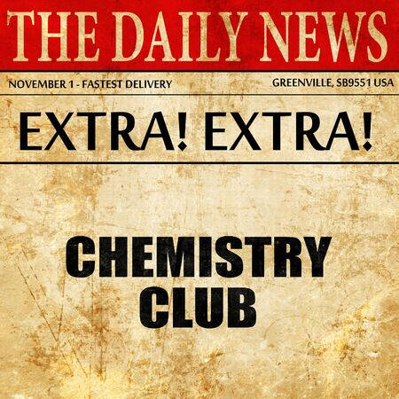 chemistry club, article text in newspaper