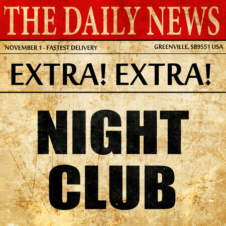 making music: night club, article text in newspaper Stock Photo
