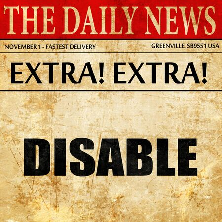 disable: disable, article text in newspaper