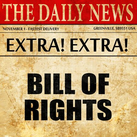 bill of rights: bill of rights, article text in newspaper