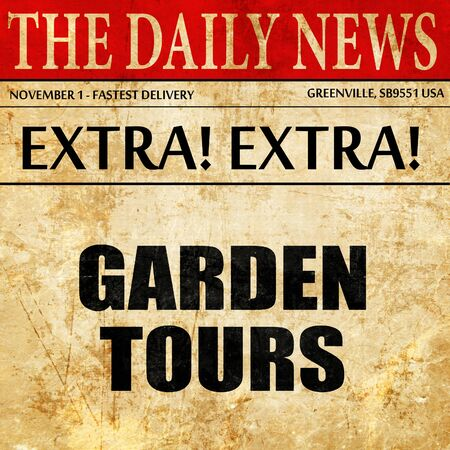 sight seeing: garden tours, article text in newspaper