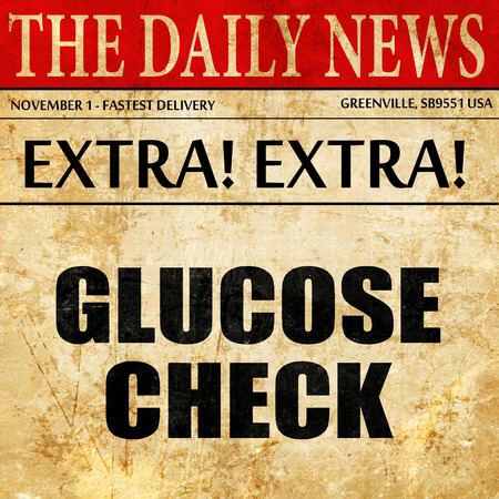 glucose check, article text in newspaper Zdjęcie Seryjne