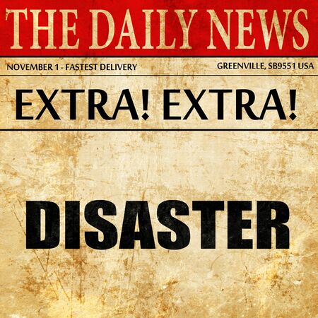 drp: disaster, article text in newspaper