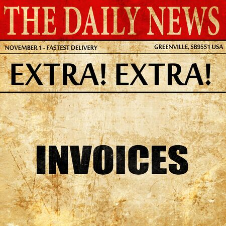 payable: invoices, article text in newspaper