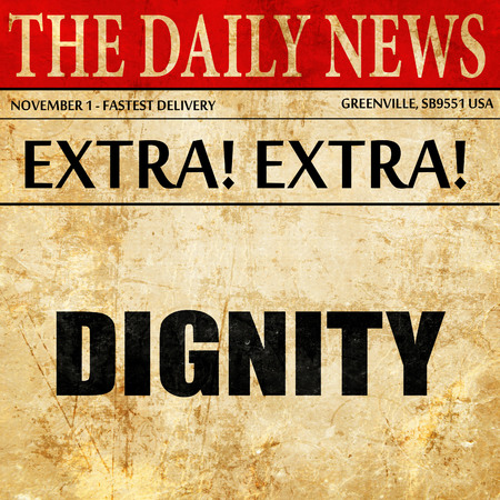 arrepentimiento: dignity, article text in newspaper
