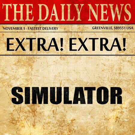 simulator: simulator, article text in newspaper Stock Photo
