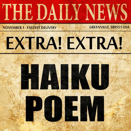 haiku: haiku poem, article text in newspaper