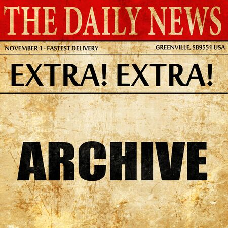 evidence bag: archive, article text in newspaper