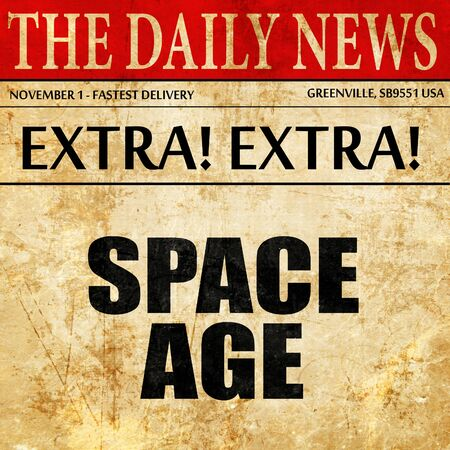 space age: space age, article text in newspaper Stock Photo