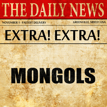 mongols: mongols, article text in newspaper