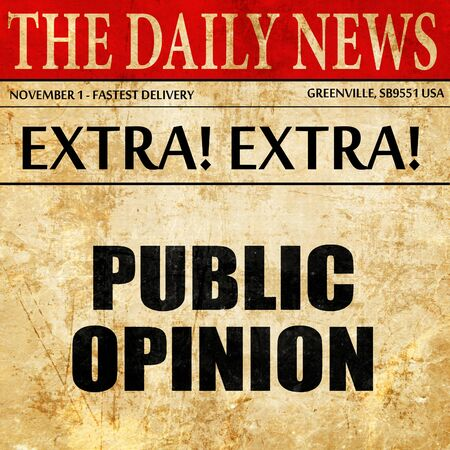 public opinion: public opinion, article text in newspaper