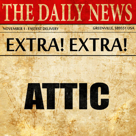 attic: attic, article text in newspaper