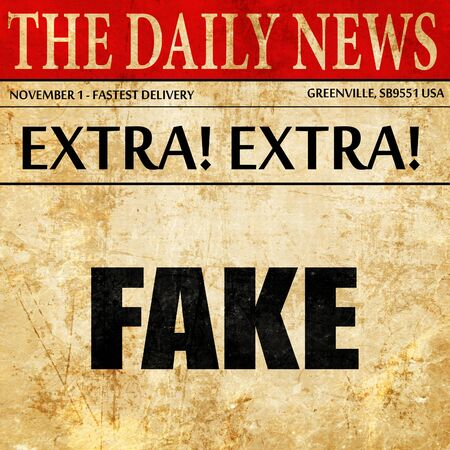 swindle: fake, article text in newspaper