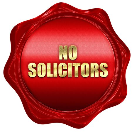 solicitors: no solicitors, 3D rendering, red wax stamp with text