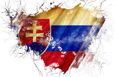 flag: Grunge old Slovakia flag Stock Photo
