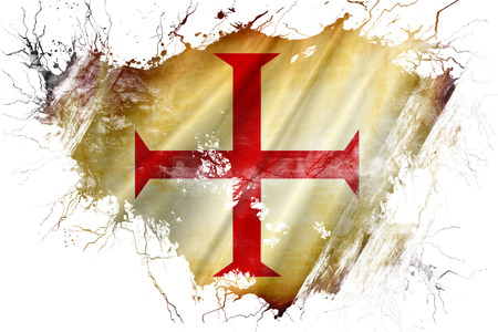 Grunge old Templar knight flag