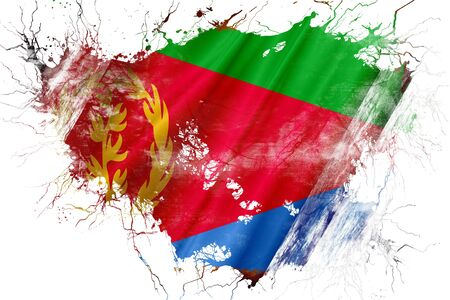 Grunge old Eritrea  flag