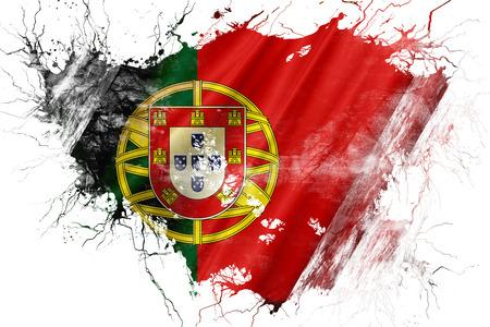portugese: Grunge old Portugal flag