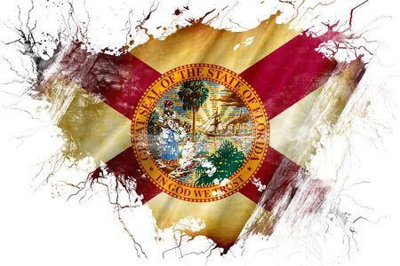 Grunge old florida flag Stok Fotoğraf