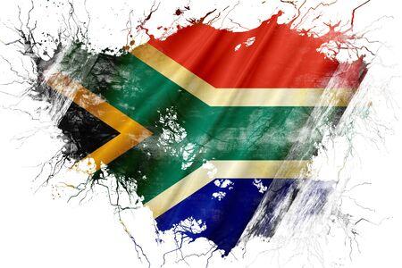 グランジ古い南アフリカ共和国の旗