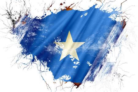 Grunge old Somalia  flag