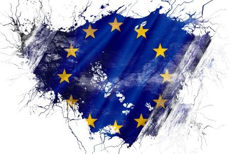 グランジ古い欧州連合の旗 写真素材