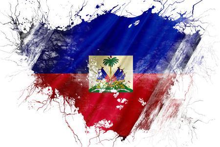 グランジ古いハイチの国旗