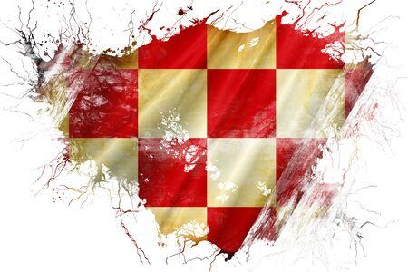 noord brabant: Grunge old North Brabant, noord brabant flag