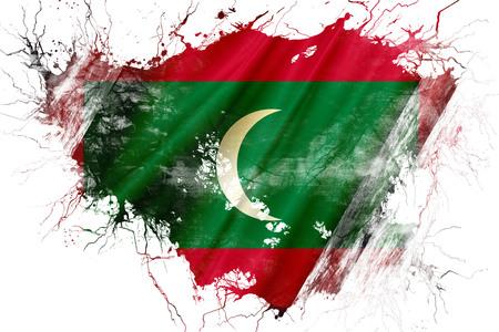 Grunge old Maldives flag