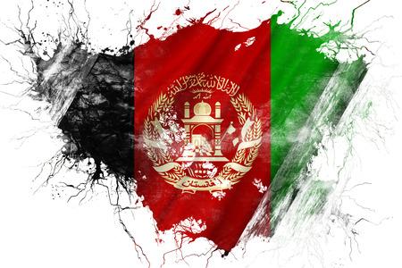 Grunge old Afghanistan flag