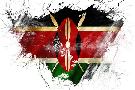 kenya: Grunge old Kenya flag