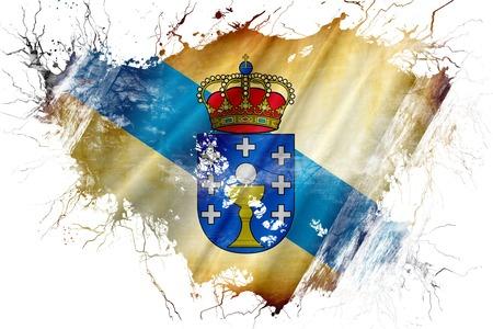 Grunge old Galicia flag