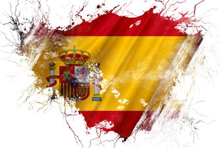 spanish flag: Grunge old Spanish flag Stock Photo