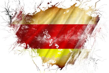 Grunge old Santa barbara flag