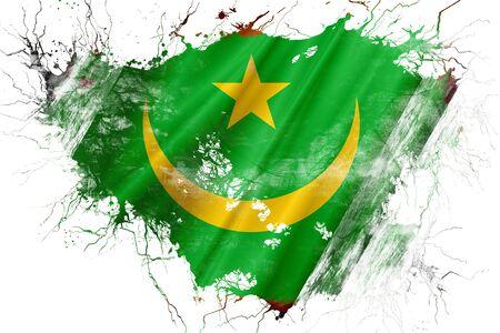 Grunge old Mauritania flag