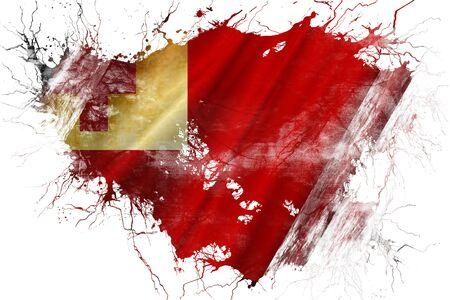 tonga: Grunge old Tonga flag