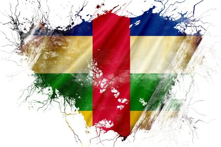 central african republic: Grunge old Central african republic flag