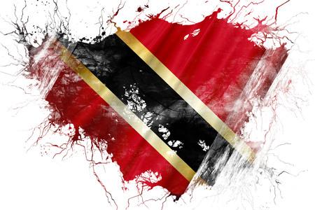 trinidad and tobago: Grunge old Trinidad and tobago flag