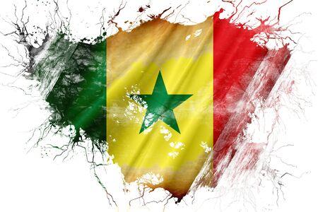 senegalese: Grunge old Senegal flag