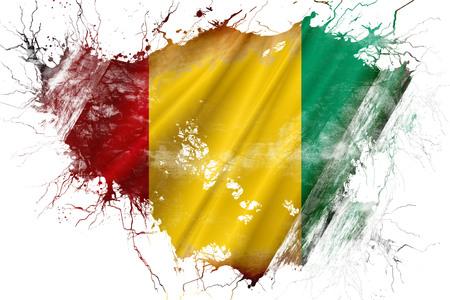Grunge old Guinea flag