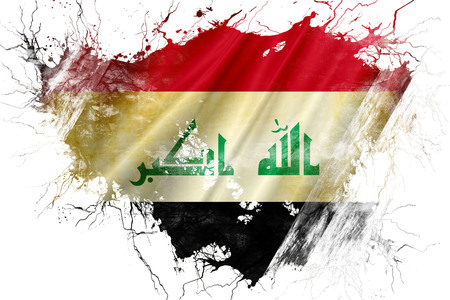 iraq flag: Grunge old Iraq flag